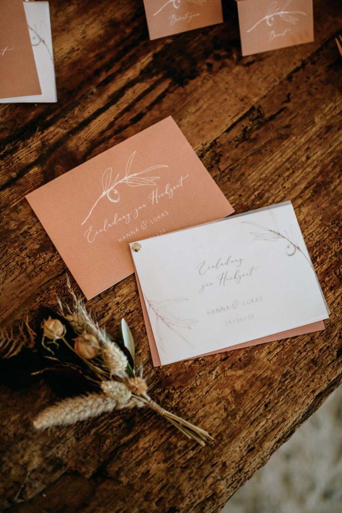Papeterie für Hochzeit planen mit Hilfe von Julia Leifheit, Wedding Day Management