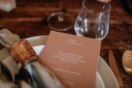Tischdekoration und Menükarten für Hochzeit, Planen mit Hilfe von Julia Leifheit, Wedding Day Managerin, München