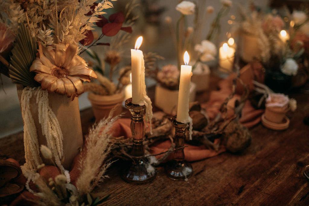 Finca Hochzeit mit Kerzenschein, vorbereitet von Wedding Day Managerin Julia Leifheit, München