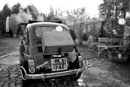 Schwarz Weiß Aufnahme Sparkling Car, Hochzeit mit Julia Leifheit Wedding Day Management
