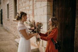 Blumen für die Braut, bei Finca Hochzeit. Geplant mit Hilfe von Julia Leifheit Wedding Day Management, Hochzeitsplanerin München