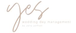 Logo Julia Leifheit, Hochzeitsplanerin YES Wedding Day Management, Hochzeitsplanung aus München